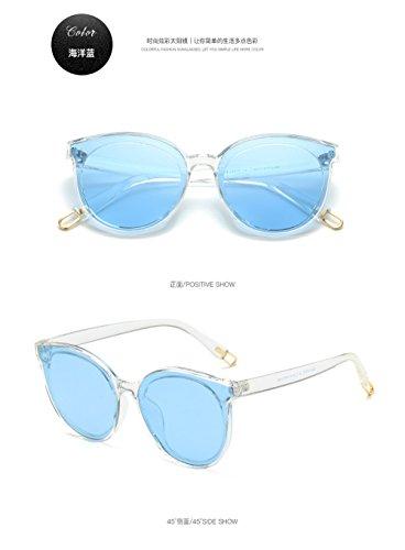 polarizadas el gafas de polarizadas Ocean de 2018 Gafas Retro Corea Tr Blue sol Azul gafas sol de PRT qvxIIF6E