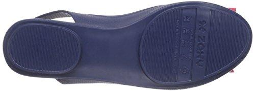 Zaxy Gift Fem - Sandalias de Talón Abierto Mujer Azul - Blau (navy 8486)