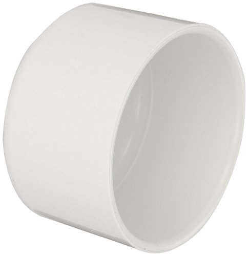 (Spears 447 Series PVC Pipe Fitting, Cap, Schedule 40, 4