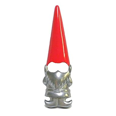 Garden Gnome with Red Hat Metal Bottle Opener Novelty Barware by 180D
