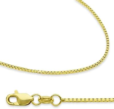 14K Gold Box Chain Square Necklace 2MM 20/""