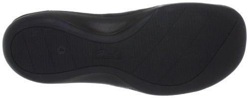 Clarks Schuhe Damen Halbschuhe Ballerinas Fairlie Lake schwarz black Schwarz (Black Leather)