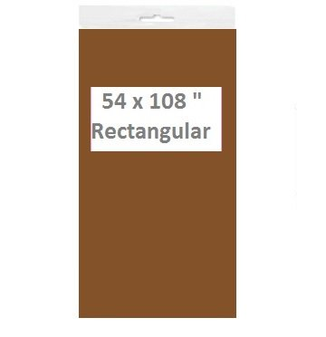 Solid Color Disposable Plastic Tablecloths/Table Covers, Rectangular, Multi-Packs (4, Light Chocolate Brown)