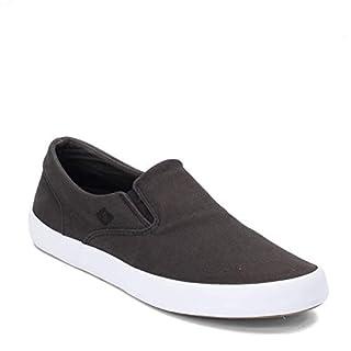 Sperry Men's Wahoo Slip On Boat Shoe, Black, 10.5 M US