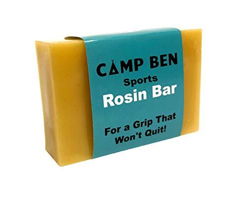 Camp Ben Sports Rosin Bar - All Natural Hand Grip Enhancer - Resin Dry Hands Accessories for Baseball, Softball, Tennis, Rodeo, Bowling, Dance, Weight Lifting, Rock Climbing - Improved Sticky Grip (Bag Rosin Baseball)