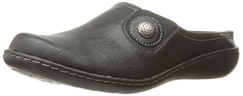 Soft Style by Hush Puppies Women's Jamila Mule, Black Leather, 11 W (Soft Womens Clogs)