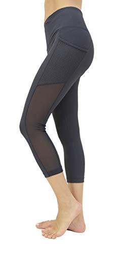 90 Degree By Reflex Women's High Waist Athletic Leggings with Smartphone Pocket - Gunmetal Grey - Small -