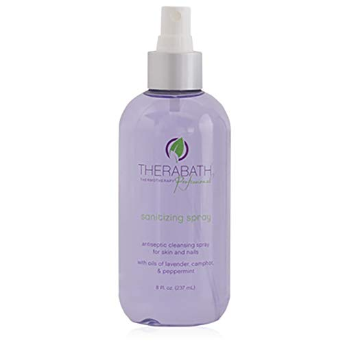 - Therabath Sanitizing Spray, Antiseptic Cleansing Spray for Skin & Nails, 8 oz