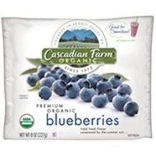 Cascadian Farm Organic Blueberry, 8 Ounce - 12 per case.