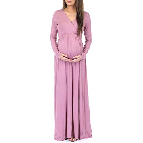 Mother Bee Maternity Womens Long Sleeve Wrap Dress by Rags and Couture Mauve
