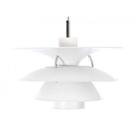SCANDINAVIAN DESIGN PH CHARLOTTENBORG PH 5-4½ LAMP WHITE PENDANT LAMP REPLICA MID CENTURY
