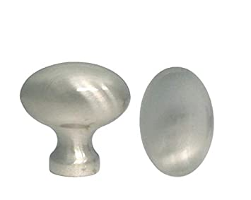 20 Satin Nickel Oval Kitchen Cabinet Knobs Knob Egg Football 31mm
