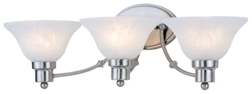 Hardware House 544643 24-3/4-Inch by 7-1/2-Inch Bath/Wall Lighting Fixture, Satin Nickel ()