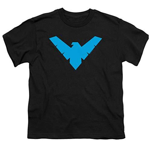 Popfunk Youth Nightwing Logo T Shirt for Boys (X-Large) Black
