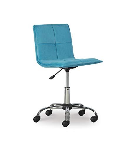 Linon Home Décor AMZN1324 Hayslip Blue Office Chair,