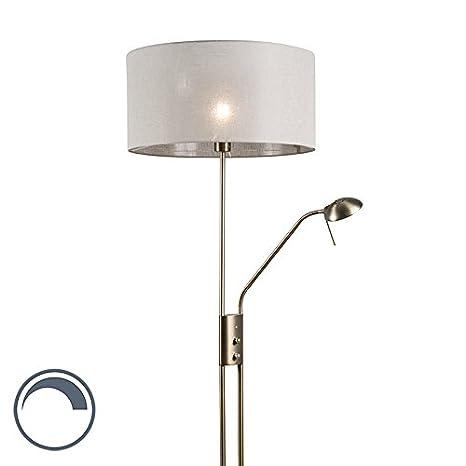 QAZQA Moderno Lámpara de pie LUXOR bronce 50cm taupe ...