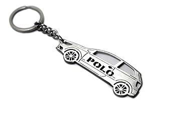 Llavero con anillo para Volkswagen Polo V 3d acero clave ...