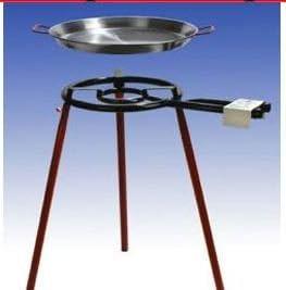 Muy Grande Paella Con Parrilla De Gas de 2 llamas de 50 cm ...