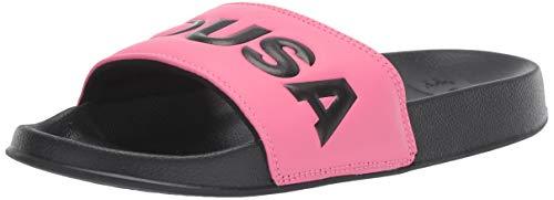 DC Women's Slide Sandal, Pink/Black, 9 M US