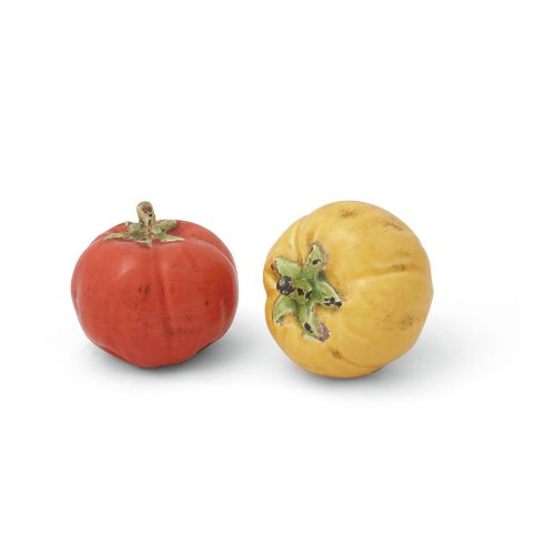 Foreside Ceramic Tomato Sculptures, Set of 2