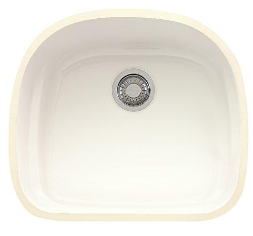 Franke PRK11021WH Prestige 21-Inch Single Bowl Undermount Fireclay Kitchen...