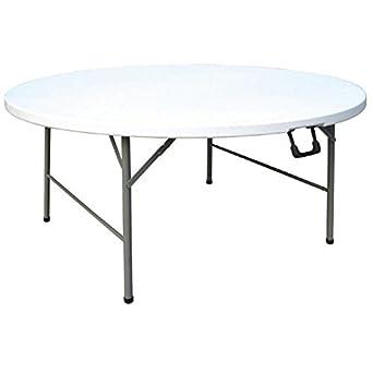 Bolero CC506 - Mesa redonda plegable al centro, 152 cm: Amazon.es ...