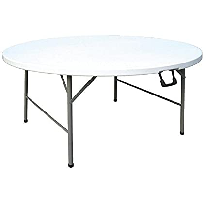Round Plastic Folding Table 60u0026quot; (Dia). Fold Away Legs