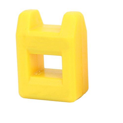 sourcingmap® Peu un tournevis à pointe tournevis démagnétiseur Magnétiseur 2 pcs jaune