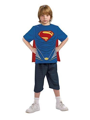 Man of Steel Superman Costume Top with Cape