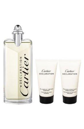 Cartier Declaration for Men Gift Set (Eau de Toilette Spray, Shampoo, After (Declaration Spray Shampoo)
