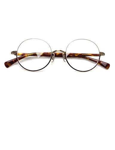 Komehachi - Vintage Retro Round Under Semi Rimless Unisex Women Clear Lens Eyeglasses Frames RX-Ready - Under Rim Glasses