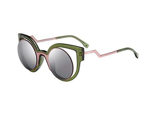 (Sunglasses Fendi 137 /S 0NTA Pink Palladium / CN dark gray mirror lens)