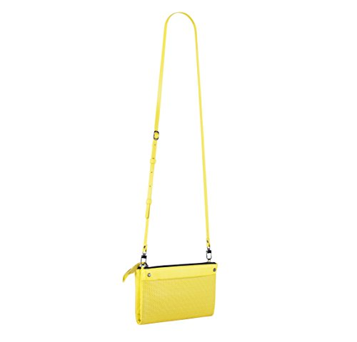Yellow Handbags Leather with Gunmetal Leather Hardware Crossbody and Bag LA Wallet v564Oqww