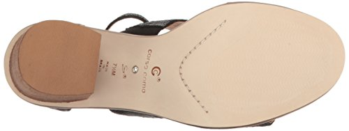 Corso Como Sandalo Con Tacco Donna Sandalo Nero Quadrato In Pelle Laser / Striscia Nera In Pelle Laser