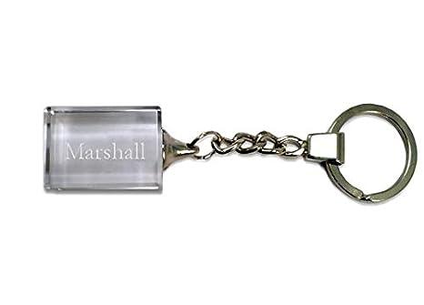 Shopzeus Llavero de Cristal con Nombre Grabado: Marshall ...