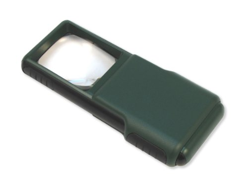 Aspheric Lens Magnifier - Carson MiniBrite 5x LED Lighted Slide-Out Aspheric Magnifier with Protective Sleeve