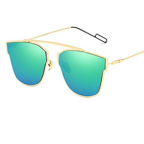 f0cca7e7da5 HONGNA New Retro Sunglasses European and American Trend Sunglasses  Reflective Metal Sunglasses Unisex Outdoor Sports Driving Fishing (Color    Green Mercury)