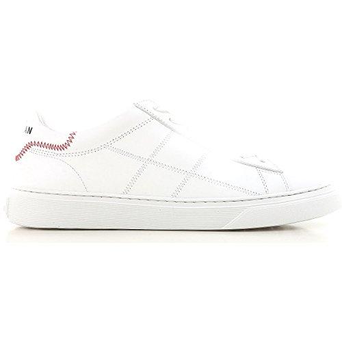 Hogan Sneakers Uomo H365 in Pelle Con H Impunturata Mod. HXM3650K692KLAB001 BIANCA 7½