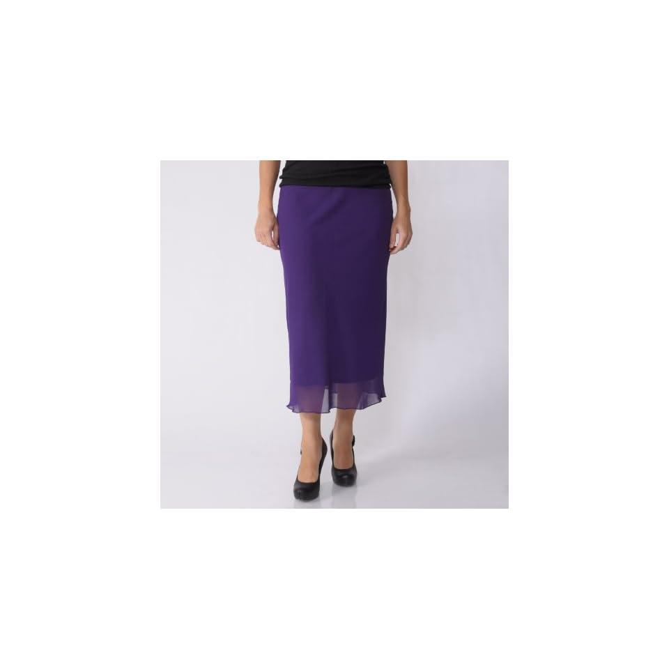 Jody California Womens Long Chiffon Skirt