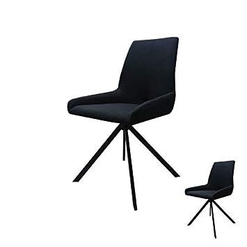 Duo L Chaises de Forest Tousmesmeubles Noir BoisTissu u13TFlKcJ