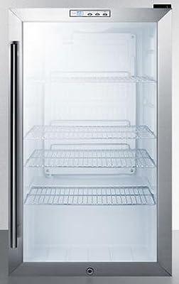 Summit SCR486L Beverage Refrigeration, Glass/Black