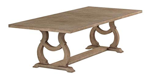 Glen Cove Dining Table with Trestle Barley Brown (Table Dining Extendable Room)