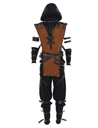 Mens Game Cosplay Full Set Costumes Halloween Dress Up Suit 2XL -