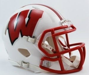NCAA Wisconsin Badgers Speed Mini Helmet (Riddell Wisconsin Badgers Replica Helmet)