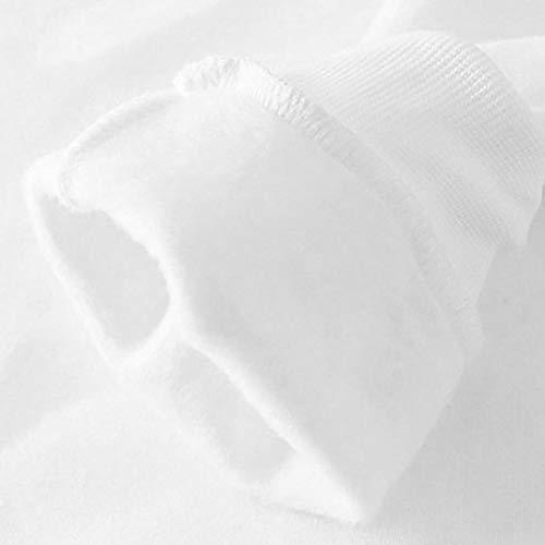 Donna Manica Unita Tinta Impero ITISME Bianco Corta Camicia TOPS 6qTF0