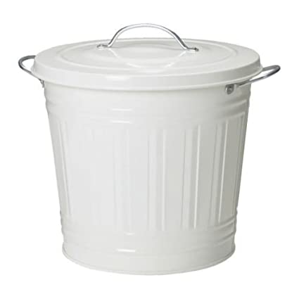 IKEA KNODD -Tonne mit Deckel weiß