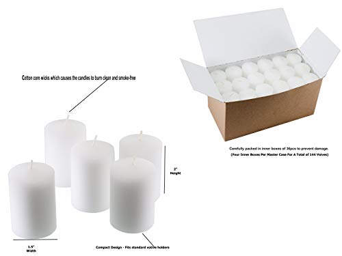 D'light Online 15 Hour Unscented White Emergency and Events Bulk Votive Candles (White, Set of 144) by D'light Online (Image #1)