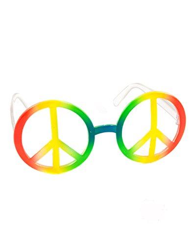 Rainbow Peace Sign Glasses -