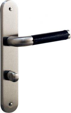 Poignée de porte intérieure design en métal Nickel mat et ...