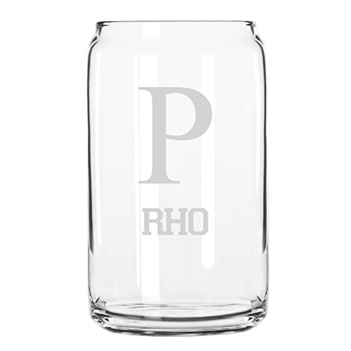Greek Life Rho P- 16 Ounce Glass Can ()
